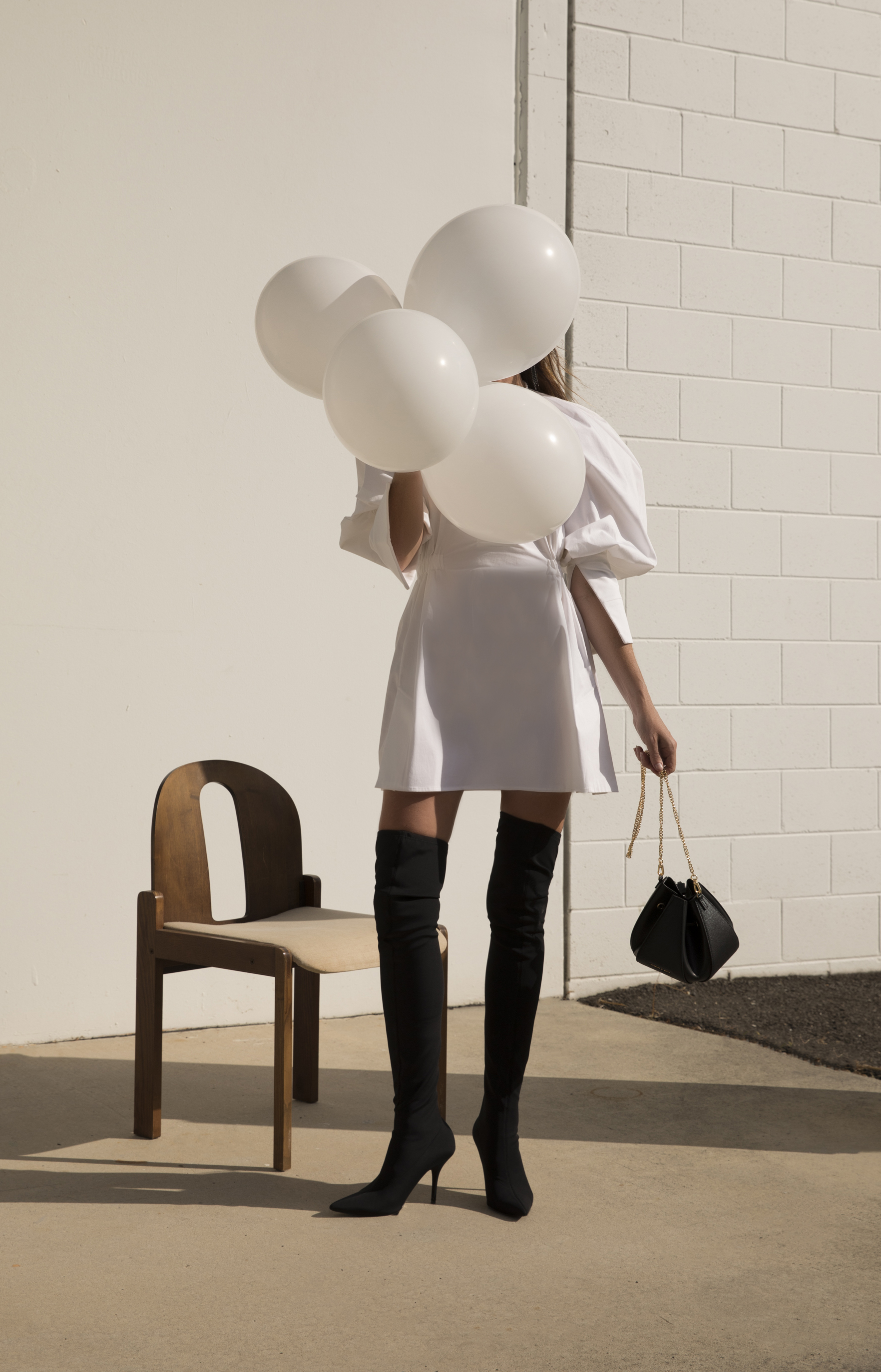 Outfit, Inspiration, Boots, Thigh, High, Bucket, Bag, Charles & Keith
