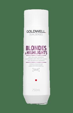 Bottle of shampoo for blonde hair