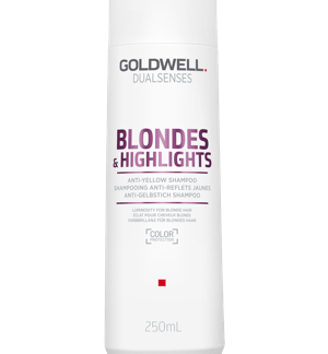 Bottle of shampoo for blonde hair