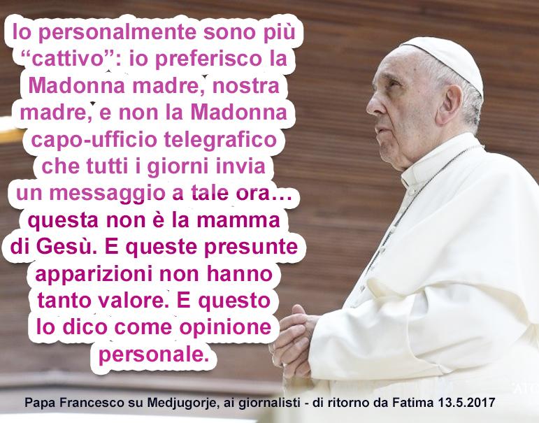 Medjugorje come Pompei? La furbizia gesuitica di papa Francesco
