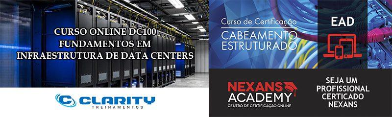 Tenha uma formação ainda mais completa com este COMBO: Curso online DC100 + Certificação online NEXANS em cabeamento estruturado.