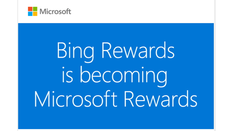Bing Microsoft Rewards