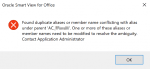 Found Duplicate Aliases Or Member Name Conflicting With Alias Under Parent Contact Application Administrator