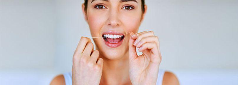 Uso diario de hilo dental