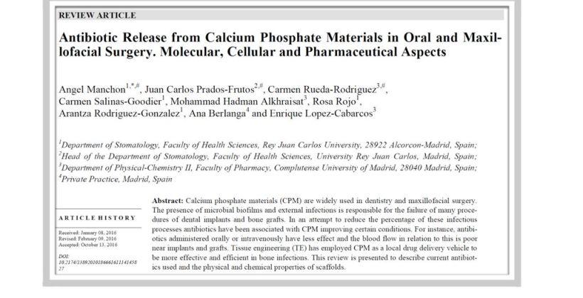 Artículo científico publicado por el Dr. Ángel Manchón