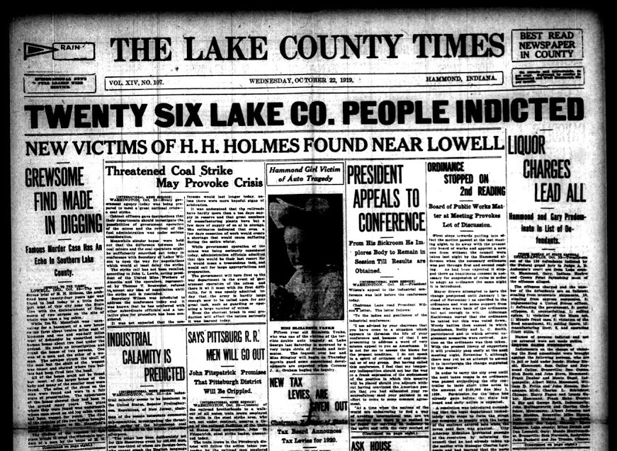 Unsolved H H Holmes Victims Discovered In Northwest Indiana Orangebean Indiana