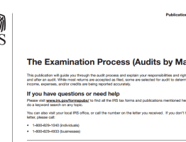 IRS Tax audit Examination process