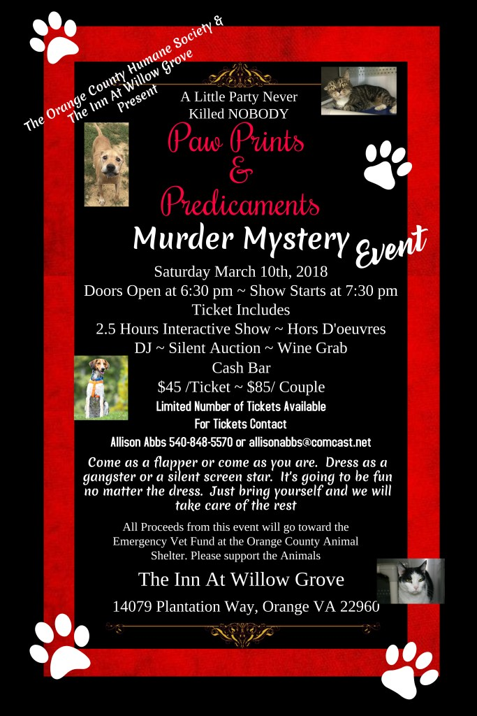 Enter For A Chance to Win Tickets To The Murder Mystery Event