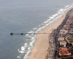The HB pier from the air.