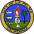 La Palma city logo; can you spot the cow in the lower left?