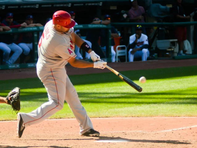 ALBERT PUJOLS singled in four runs in the Angels' 6-2 win over the Royals Monday night (Flickr/Eric Proust).