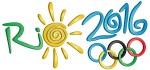 THE 2016 SUMMER OLYMPICS are in Rio de Janeiro, Brazil (Official logo).