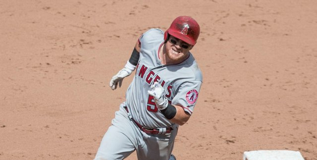 KOLE CALHOUN hit his 16th home run of the season in the Angels' 10-7 win Tuesday over the Oakland A's (Flickr/Keith Allison).