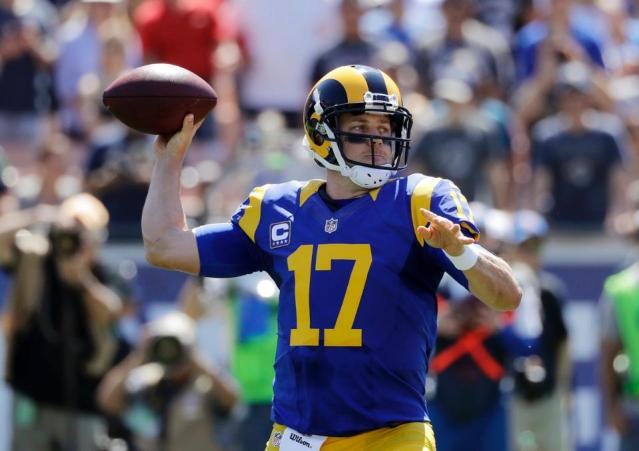 WITH CASE KEENUM at the helm, the Rams have scored zero touchdowns in eight quarters (Rams photo).