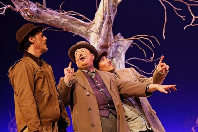 """""""WAITING FOR GODOT"""" at the MainStage Theater at Golden West College in Huntington Beach (GWC photo)."""