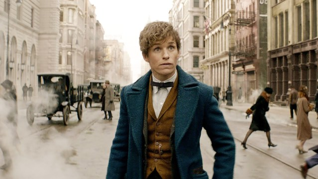 """NEWT SCAMANDER (Eddie Redmayne in 1926 New York City in """"Fantastic Beasts and Where to Find Them."""""""