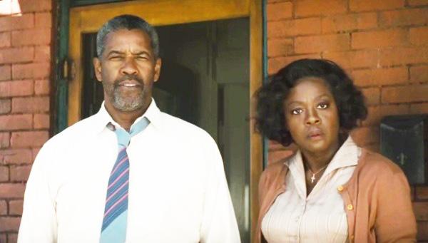 "DENZEL WASHINGTON and Viola Davis star in ""Fences."""