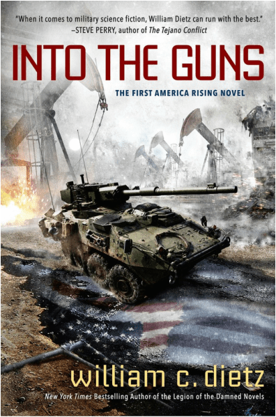 """""""INTO THE GUNS"""" by William C. Dietz."""
