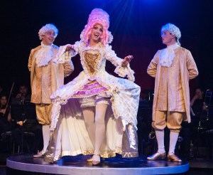 """ELABORATE costumes are part of the pleasure in """"Follies,"""" now on stage at the Gem Theatre in Garden Grove (OMP photo)."""