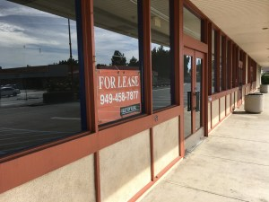 FOR LEASE sign at a vacant commercial building on Valley View Street in West Garden Grove (OC Tribune).