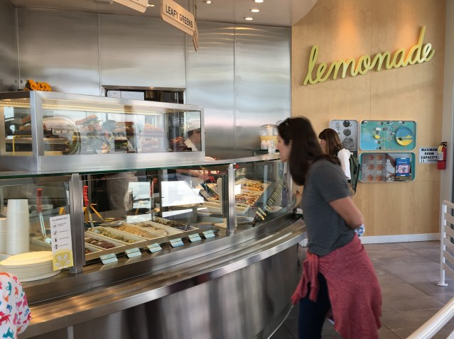 LEMONADE is a kind of food bar where you select from a variety of salads, main courses, sandwiches and offer offerings. The Huntington Beach location is in the Pacific City development on Pacific Coast Highway (OC Tribune photo).