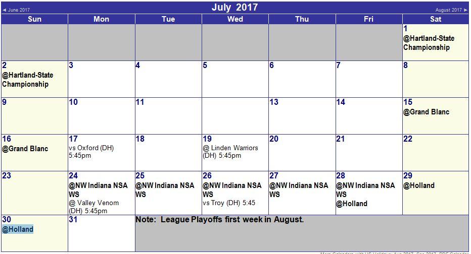 12U SchedulesDirections ORANGE CRUSH Softball