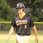 """""""Red Hot"""" Ted Ballou (4) during the July 10th game in Orange."""