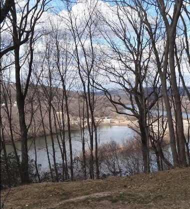 A view from the Housatonic Overlook (Orange's waterfront property).