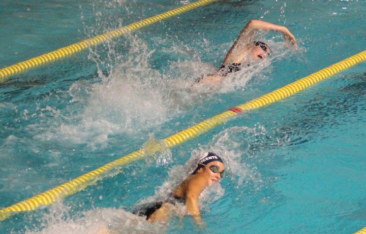 Girls' Swimming: Undefeated Amity Leaves Mercy In Its Wake