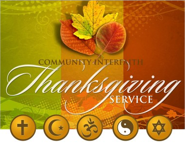 Interfaith Community Thanksgiving Service Planned