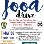 Please Donate To the Drive Thru Food Drive On May 30