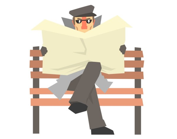 detective-character-sitting-on-a-bench-and-spying-vector-15298463