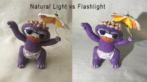 Natural Light vs Flashlight