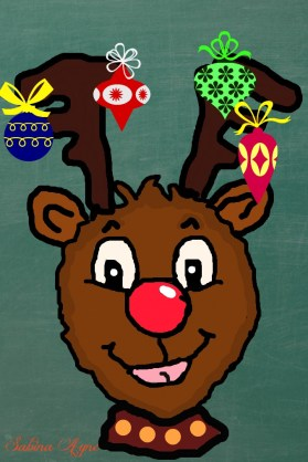 rudolph-colouring-picture