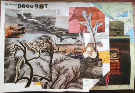 Drought, full page, folded page open to the right.