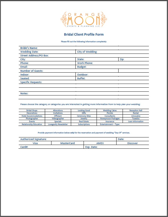 Information Printable Planner Organizer Direct Sales Hostess