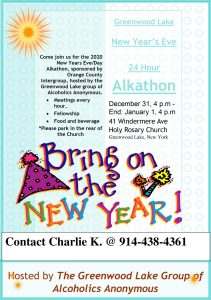 New Years Eve 24hr Alkathon @ Holy Rosary Church