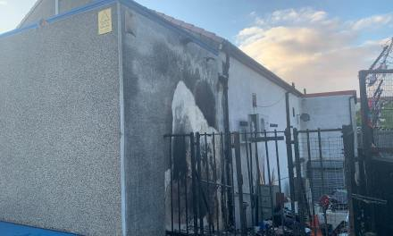 Arson attack on Orange Hall