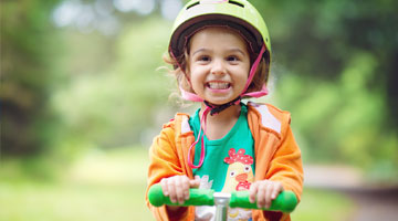 Child riding a bike