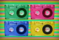 Neon Cassette Tapes