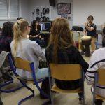 Rythme Signé percussions au lycée Saint-Louis (Saint-Nazaire) avec Gwenael Dedonder de Sysmo 10
