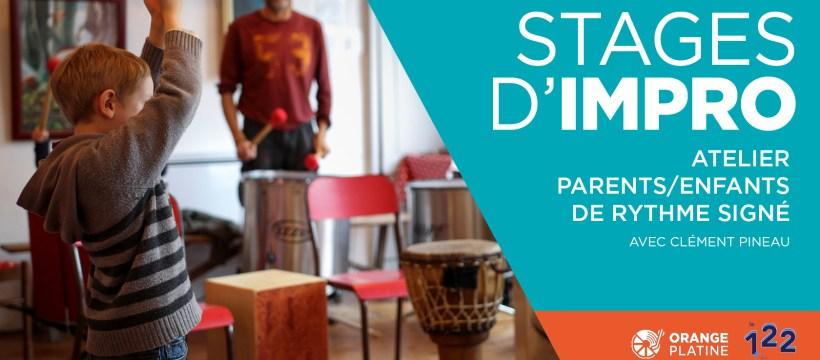 Stage impro percussions rythme signé parretns enfants - Clément Pineau