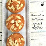 Almond and butternut squash muffins
