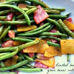 Roasted beets and green beans with lemon