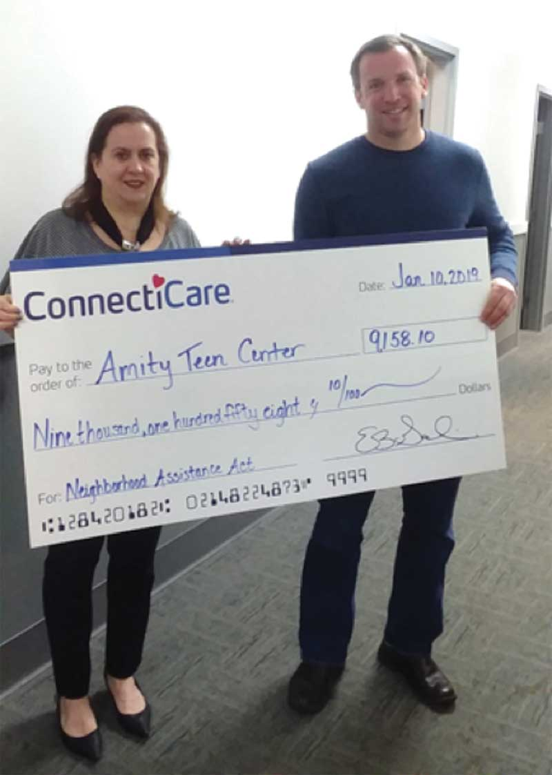 Connecticare Presents $9,000 Donation To Amity Teen Center