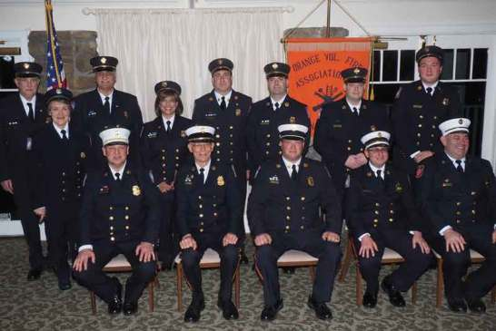 Orange Fire Department Swears In 2020 Officers, Decorates Firefighters