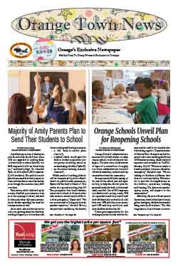 orange town news front page july 31, 2020