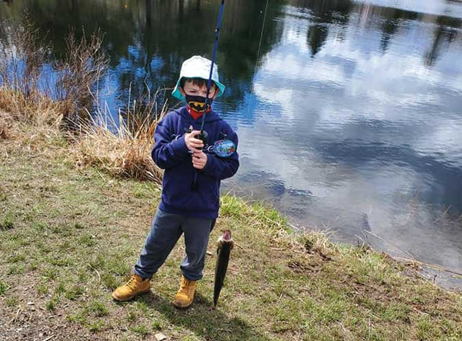 Franco Martone, Tiger Scout, at the Fishing Derby on April 17th