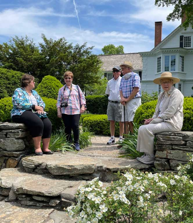 The Garden Club of Orange Explores Historic House and Garden                Members of the Orange Garden Club visited the Bellamy-Ferriday House and Garden in Bethlehem, Connecticut and enjoyed the house tour and especially the gardens, filled with lilacs, peonies, and many other blooms.