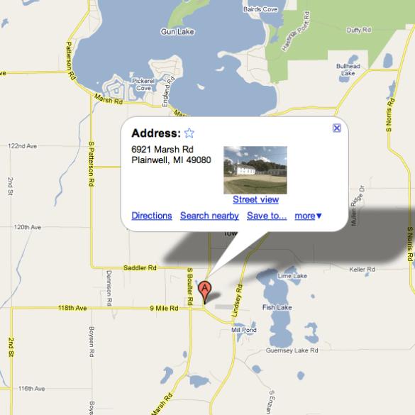 Plainwell Michigan Map.Find Us